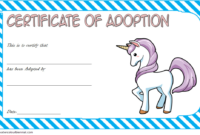 Unicorn Adoption Certificate Free Printable (Fantasy Design inside Unicorn Adoption Certificate Templates