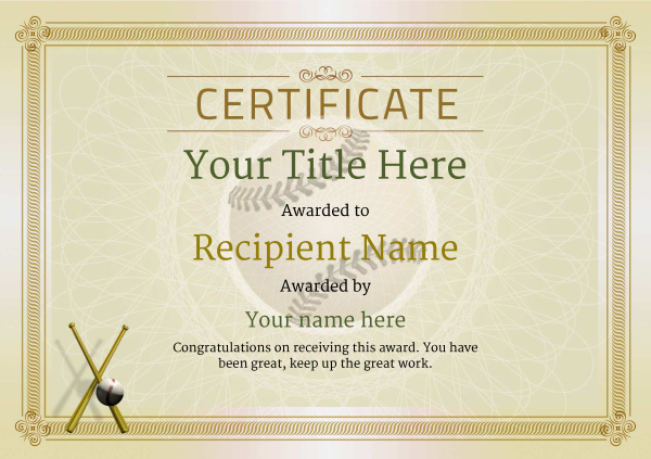 Use Free Baseball Certificate Templates  Awardbox In Baseball Award Certificate Template