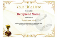 Use Free Baseball Certificate Templates -Awardbox in Editable Baseball Award Certificates