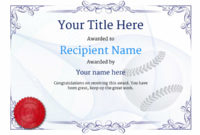 Use Free Baseball Certificate Templates -Awardbox with regard to Editable Baseball Award Certificates