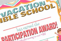 Vacation Bible School Certificates Printable New Fashionable for Printable Vbs Certificates Free