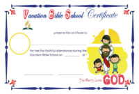 Vbs Sample Certificates | School Certificates, Vacation with regard to Best Vbs Attendance Certificate Template