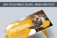Vegetarian Restaurant – Premium Gift Certificate Psd inside Restaurant Gift Certificate Template 2018 Best Designs