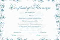 Vintage Marriage Certificate Template – (Editable throughout Best Marriage Certificate Template Word 10 Designs