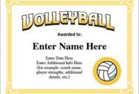 Volleyball Award Certificate – Free Award Certificates with Unique Volleyball Certificate Template Free