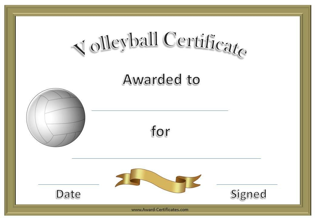 Volleyball Awards | Coaching Volleyball, Volleyball intended for Unique Volleyball Certificate Templates