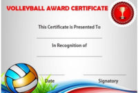 Volleyball Certificate Sample | Templates Printable Free in Volleyball Certificate Template Free