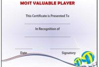 Volleyball Mvp Award Template | Award Template, Templates inside Mvp Award Certificate Templates Free Download
