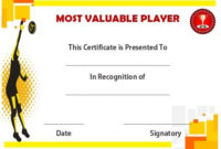 Volleyball Mvp Certificate | Award Certificates, Awards inside Mvp Award Certificate Templates Free Download