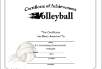 Volleyball Printable Certificate | Volleyball, Life Coach inside Volleyball Award Certificate Template Free