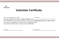 Volunteer Certificate Template – Microsoft Word Templates in Volunteer Certificate Templates