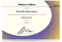 Volunteer Certificate Template – Pdf Templates | Jotform throughout Fresh Volunteer Certificate Templates