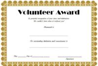 Volunteer Hours Certificate Template Free (4Th Design) In intended for Fresh Outstanding Volunteer Certificate Template