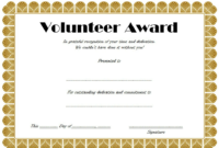 Volunteer Hours Certificate Template Free (4Th Design) In with Free Printable Best Wife Certificate 7 Designs