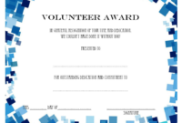 Volunteer Of The Year Certificate Template (3) – Templates inside Fresh Outstanding Volunteer Certificate Template