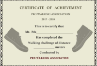 Walking Certificate Templates (7) – Templates Example inside Physical Fitness Certificate Template 7 Ideas