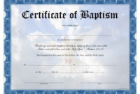 Water Baptism Certificate – Carlynstudio throughout Baptism Certificate Template Word 9 Fresh Ideas