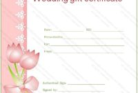Wedding Gift Certificate Templates | Gift Certificate Templates with regard to Fresh Wedding Gift Certificate Template