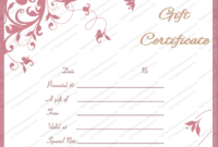 Wedding Gift Certificate Templates regarding Unique Free Editable Wedding Gift Certificate Template