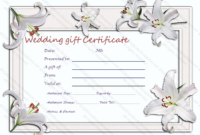 Wedding Gift Certificate Templates with regard to Free Editable Wedding Gift Certificate Template