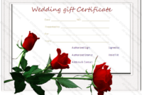 Wedding Gift Certificate Templates within Unique Free Editable Wedding Gift Certificate Template