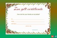 Wild Zoo Gift Certificate Template – Gct in Zoo Gift Certificate Templates Free Download