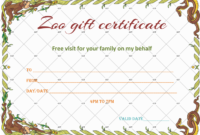 Wild Zoo Gift Certificate Template – Gct with Fresh Zoo Gift Certificate Templates Free Download