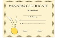 Winner Certificate Template (3) – Templates Example intended for Unique Winner Certificate Template Free 12 Designs