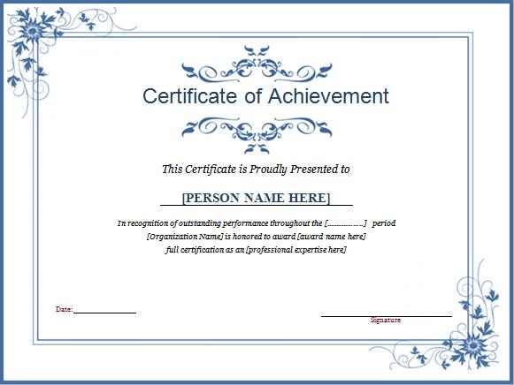 Winner Certificate Template For Ms Word   Document Hub With Contest Winner Certificate Template