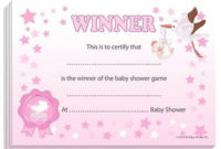 Winner Certificates – Baby Shower Party Games Prize, 10/20 within Unique Baby Shower Winner Certificates