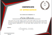 Word Certificate Of Appreciation Template inside Certificate Of Appreciation Template Word