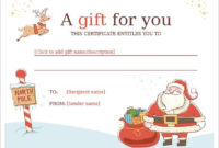 Word, Pdf, Psd | Free & Premium Templates | Christmas Gift throughout Christmas Gift Certificate Template Free