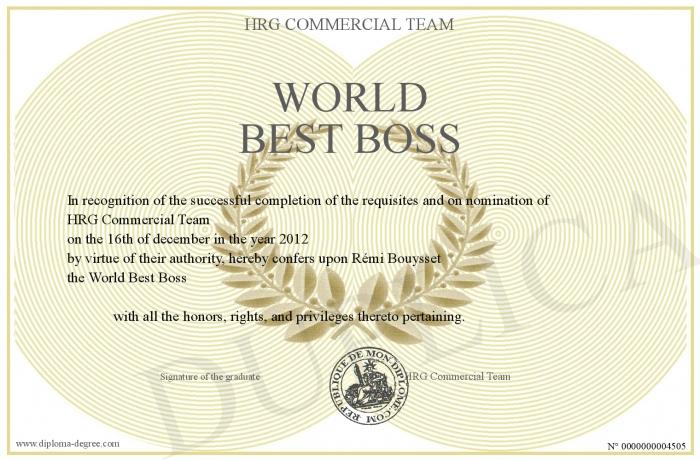 World Best Boss Inside Worlds Best Boss Certificate Templates Free