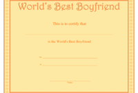World'S Best Boyfriend Certificate Template Download with regard to Best Boyfriend Certificate Template