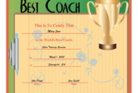 World'S Best Coach Certificate Printable Certificate inside Best Best Coach Certificate Template