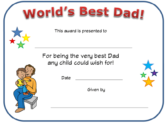 World'S Best Dad Certificate Template Download Printable Pdf Throughout Best Dad Certificate Template