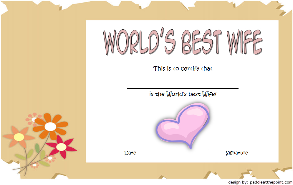 World'S Best Wife Certificate Template Free 2 | Good Wife Intended For Best Wife Certificate Template