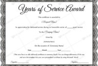 Years Of Service Award Templates | Certificate Templates regarding Long Service Award Certificate Templates