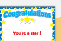You'Re A Star Certificate – Editable with Unique Star Student Certificate Templates