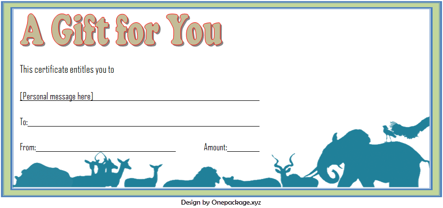 Zoo Gift Voucher Template Free Printable (2Nd Design) In throughout Zoo Gift Certificate Templates Free Download