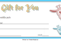 Zoo Gift Voucher Template Free Printable (3Rd Design) In regarding Zoo Gift Certificate Templates Free Download